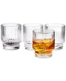 Fluted Double Old-Fashioned Glasses, Set of 4, Created for Macy's