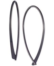 Hematite-Tone Threader Earrings