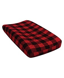 Buffalo Check Quilted Jersey Changing Pad Cover