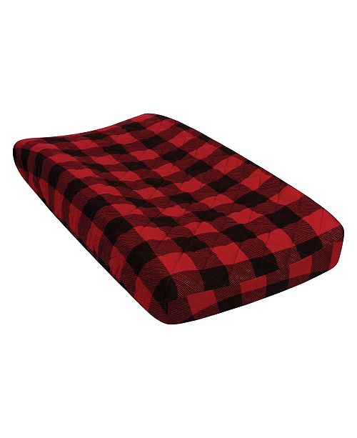 Trend Lab Buffalo Check Quilted Jersey Changing Pad Cover