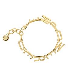 Gold EMPOWERED Affirmation Link Bracelet