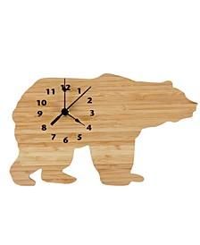 Bamboo Bear Wall Clock