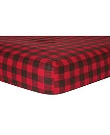Buffalo Check Flannel Crib Sheet