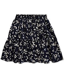 Toddler Girls Floral Tiered Cotton Skirt