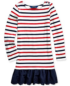 Toddler Girls Striped Cotton Jersey Dress