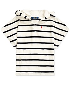 Toddler Girls Striped Cotton-Blend-Terry Cover-Up