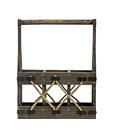 American Art Decor Wood 3 Bottle Tabletop Wine Rack