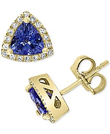EFFY® Tanzanite (1-1/20 ct. t.w.) & Diamond (1/6 ct. t.w.) Stud Earrings in 14k Gold