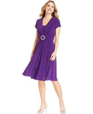 R Amp M Richards Cap Sleeve Embellished Dress Dresses