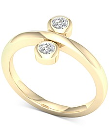 Diamond Bezel Promise Ring (1/5 ct. t.w.) in 10k Gold