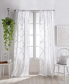 "Home Chenille Lattice 50""x95"" Backtab Window Panel"