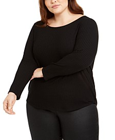 Plus Size Ballet-Neck Top