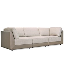 Mattley 3-Pc. Fabric Sofa, Created for Macy's