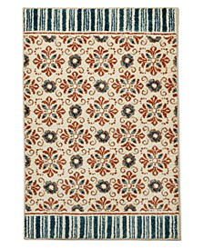 "October Floral Tile 30"" x 45"" Accent Rug, Created for Macy's"