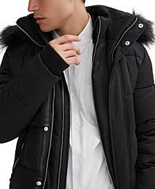 Men's Nixon Bomber with Faux Plush Lined Collar & Hood