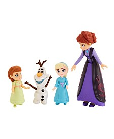Disney Family Set Elsa and Anna Dolls with Queen Iduna Doll and Olaf Toy, Inspired by the Disney Frozen 2 Movie
