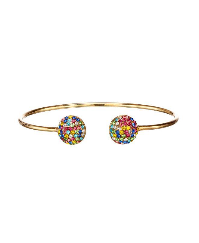 Nina Pave Button Cuff Bracelet