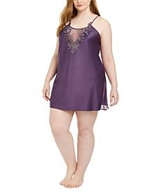 Plus Size Lace-Trim Chemise Nightgown