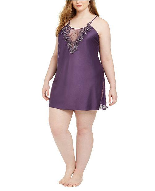 Flora by Flora Nikrooz Plus Size Lace-Trim Chemise Nightgown
