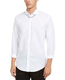 INC Men's Collar Chain Shirt, Created For Macy's