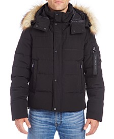 Men's Bomber with Removable Faux Fur Trimmed Hood
