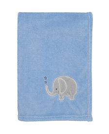 Little Love by NoJo Elephant Applique Baby Blanket