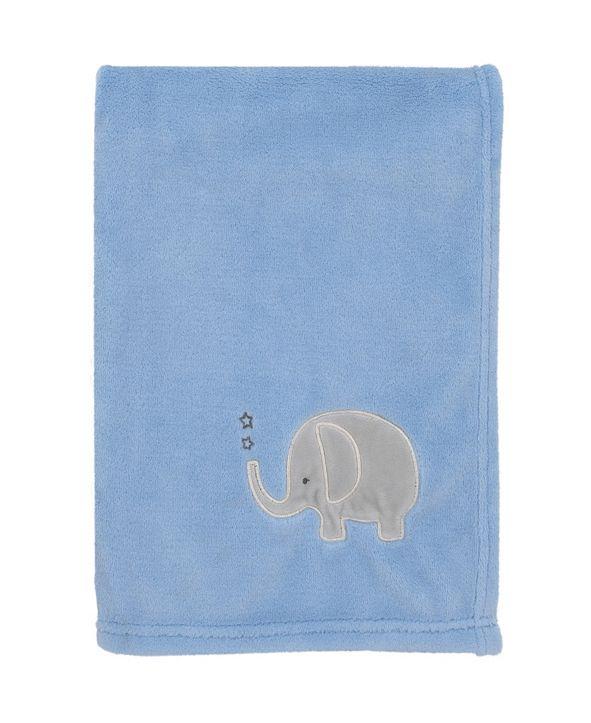 NoJo Elephant Applique Baby Blanket