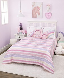Watercolor Rainbow 3-Piece Full Bedding Set