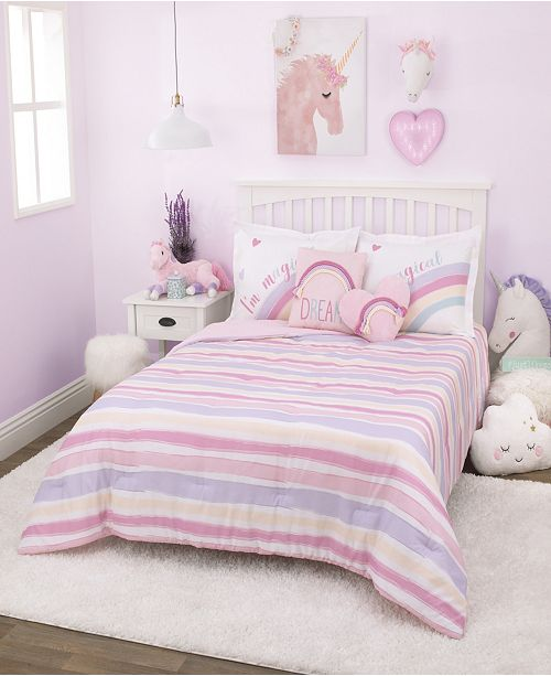 Everything Kids Watercolor Rainbow Bedding Collection