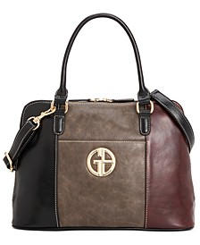 Tricolor Glaze Dome Satchel, Created for Macy's