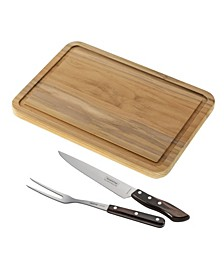 3 Piece Carving Knife Set and Cutting Board