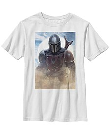 Big Boys Mandalorian Warrior Poster Short Sleeve T-Shirt