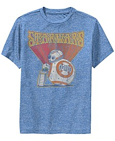 Big Boys Retro Psychedelic BB-8 and D-O Short Sleeve T-Shirt