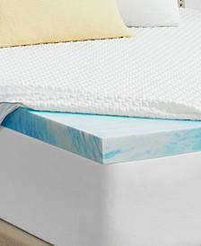 """2"""" Gel Memory Foam Mattress Topper, Full"""