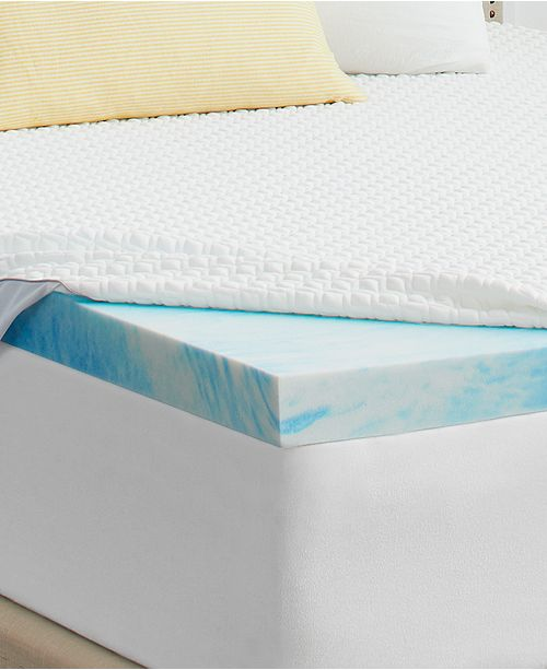"Sealy 2"" Memory Foam Mattress Topper with Cover, Full"