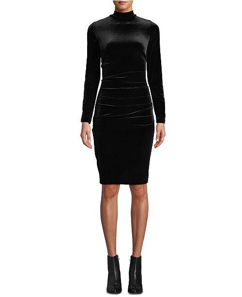 Nicole Miller Velvet Turtleneck Dress