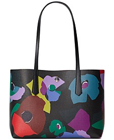 Molly Floral Collage Medium Tote