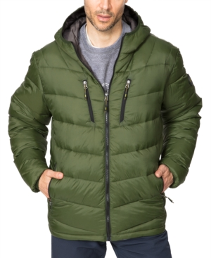 Hawke & Co. Outfitter Men's Packable Chevron Parka In Rifle Green