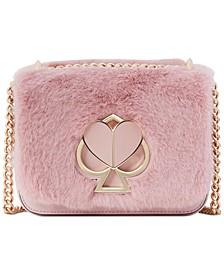 Nicola Faux Fur Twistlock Chain Shoulder Bag