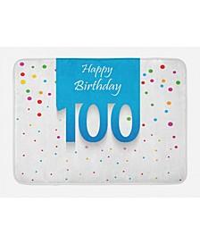 100th Birthday Bath Mat
