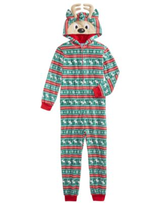 New Unisex Hanukkah Oy to the World UN-Footed One-Piece Fleece Pajamas L 10//12