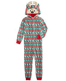 Little & Big Boys 1-Pc. Printed Reindeer Pajama