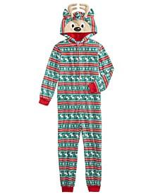 Little & Big Boys 1-Pc. Printed Reindeer Pajama
