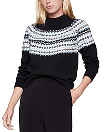 Mock-Neck Fair Isle Sweater