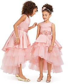 Little, Toddler & Big Girls Tiered Gown