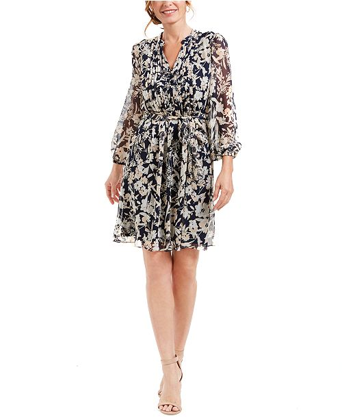 MSK Petite Chiffon Printed Dress