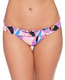 Juniors' Kaleidescope Smocked Bikini Bottoms, Created for Macy's