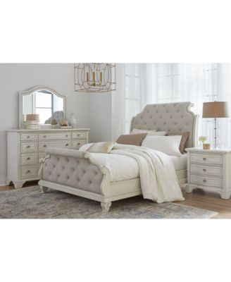 Jasper County Upholstered Bedroom Collection 3-Pc. Set (King Bed, Nightstand & Dresser)