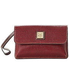 Lizard Embossed Leather Milly Wristlet