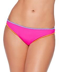 Juniors' Stitched-Trim Bikini Bottoms, Created for Macy's
